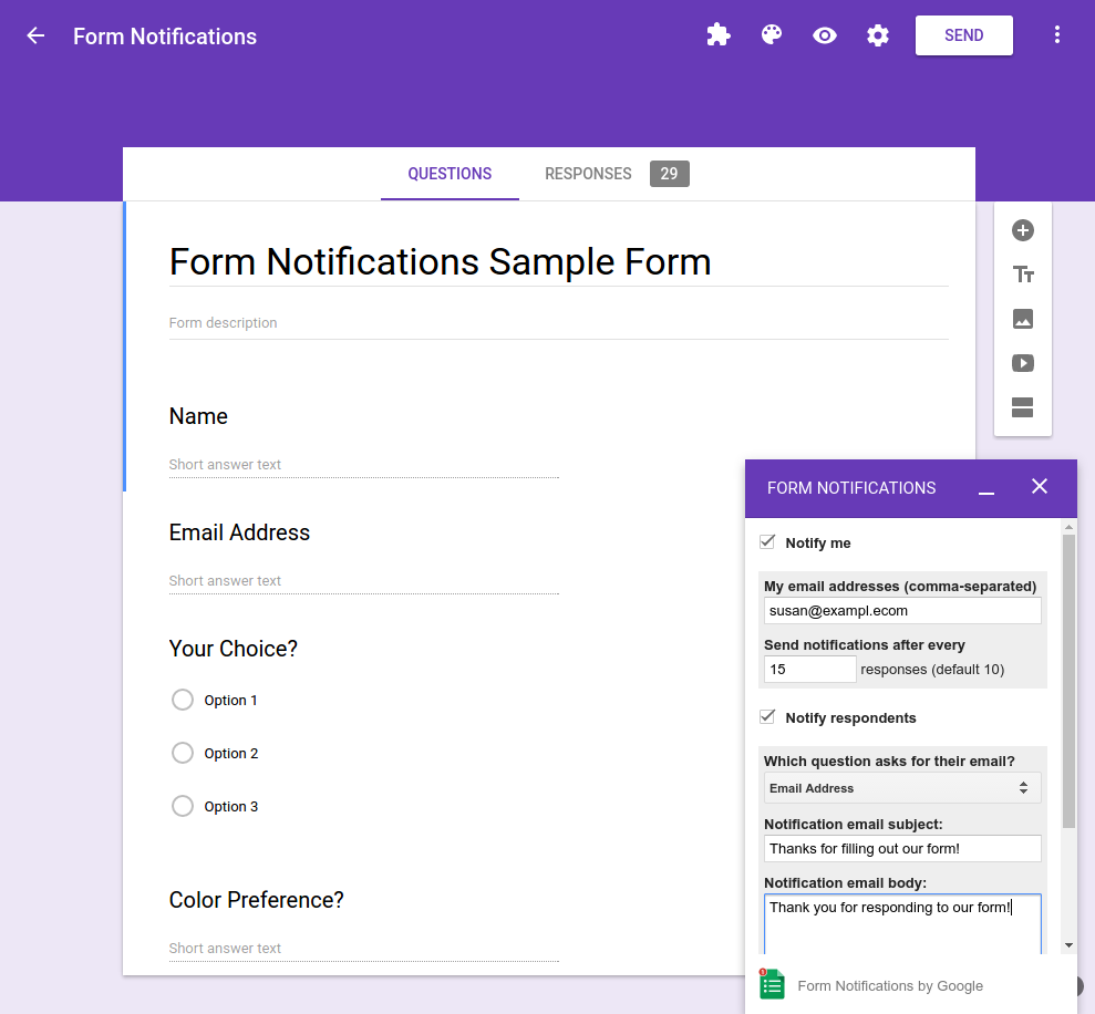 google forms course